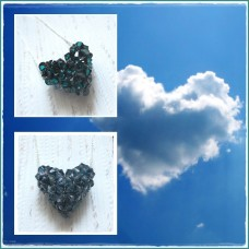 "Colier Inima 3D ""Blue Heart"""