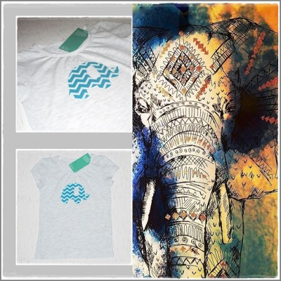 "Tricou vesel fata ""Happy Elephant"""