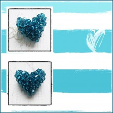"Colier Inima 3D ""Heart of Blue"""