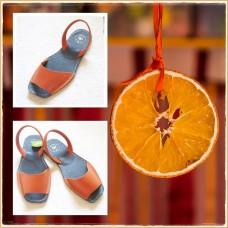 "Sandale AVARCA Decupate ""Naranja"""