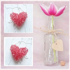 "Colier Inima 3D ""Pink Heart"""