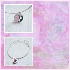 "Bratara Argint ""Pink Star"""